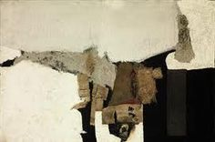 Alberto Burri Bianco signed 'Burri' (on the reverse) oil, fabric collage, sand, glue and burlap on canvas 22 x 33 x Executed in 1953 Abstract Pictures, Abstract Drawings, Abstract Art, Pablo Picasso, Bauhaus, Alberto Burri, Modern Art, Contemporary Art, Art Informel