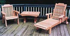 Cedar Outdoor Furniture Set Plan