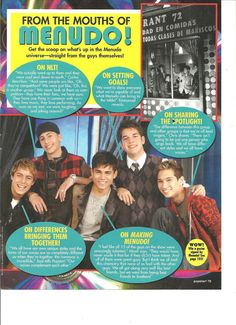 Menudo, Full Page Pinup Clipping
