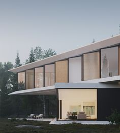 Modern House Facade House, House Facades, Modern Design, House Design, Mansions, House Styles, Outdoor Decor, Home Decor, City
