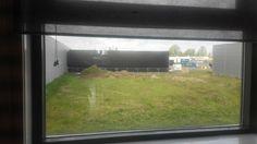 We hebben nieuwe buren. Blokken helaas wel het uitzicht op de kerktoren van Haarlem :-(