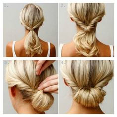 the easy chignon! I find this one easier to make really nice and much less hassle on medium length hair than long hair. Up Dos For Medium Hair, Medium Hair Styles, Curly Hair Styles, Updos For Thin Hair, Updos For Medium Length Hair Tutorial, Hair Tutorials For Medium Hair, Hair Medium, Easy Updo Thin Hair, Medium Long