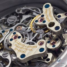 Assertive, clean finishing of the A. Lange & Söhne Lange Double Split movement
