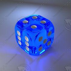blue glass 3d obj