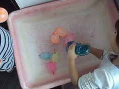 dish soap and water balloons