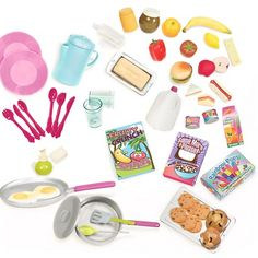 The RV Seeing You Camper Accessory Set from Our Generation is for dolls. It comes with a selection of doll food accessories to stock up your camper or kitchen. Og Dolls, Girl Dolls, Barbie Dolls, Our Generation Doll Accessories, Poupées Our Generation, Accessoires Barbie, Journey Girls, Doll Food, Barbie Accessories