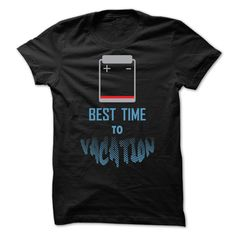 (Tshirt Design) BEST TIME TO VACATION [Tshirt Facebook] Hoodies Tee Shirts