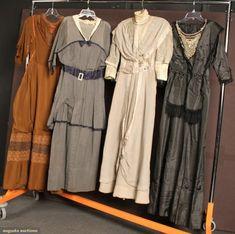 Four Silk Tea Dresses, 1912-1916, Augusta Auctions, September 2010 - Sturbridge, MA, Lot 18