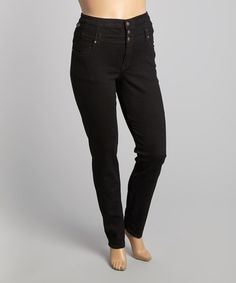 Loving this Black High-Waist Skinny Jeans - Plus on #zulily! #zulilyfinds