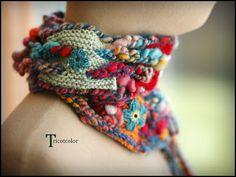 Tricotcolor: Photos de lécharpe sans nuages...
