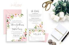 Printable Wedding Invitation Suite / Wedding Invite Set - The In Bloom Suite
