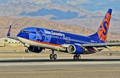 Sun Country Airlines, I love their colors.