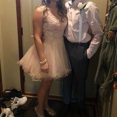 Shop Women's Dancing Queen Pink size 4 Mini at a discounted price at Poshmark. Size 4 short hoco dress with a great back! Blush Formal Dresses, Hoco Dresses, Dance Dresses, Homecoming Dresses, Dancing Queen Dresses, Tulle, Pretty, Skirts, Pink