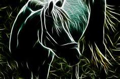 fractal animals | Fractal Horse,