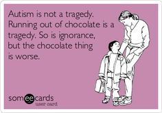 Running out of chocolate is bad! #Autism https://www.facebook.com/theautismunited
