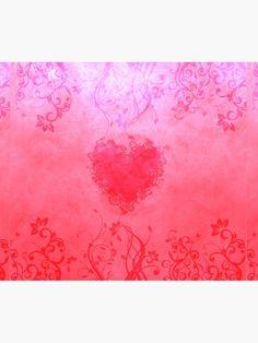 'Vivid pink floral heart' Duvet Cover by Anteia Blank Business Cards, Duvet Cover Design, College Dorm Bedding, Duvet Insert, Beds, Duvet Covers, Bedroom Decor, Tapestry, Heart