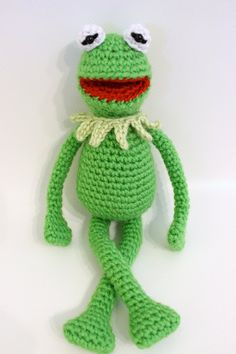 Kermit the Frog inspired crochet pattern by FatCatsCrochet on Etsy