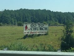 Just outside Prattville Alabama--used to pass by this all the time in college.  You know you're in AL when...