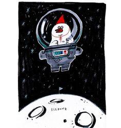 #ssebong#character #illust #illustration #draw #drawing #쎄봉#그림#낙서#일러스트#드로잉  Space trash-!