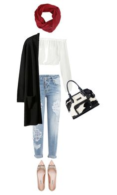 """""""Untitled #2453"""" by misnik ❤ liked on Polyvore featuring Dsquared2, Elizabeth and James, Miu Miu and Longchamp"""