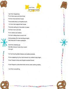 I am from poem - Rachel Forsythe