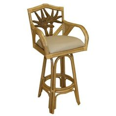 "Bay Isle Home Cypress 24"" Swivel Bar Stool Fabric: Caribbean Spray"
