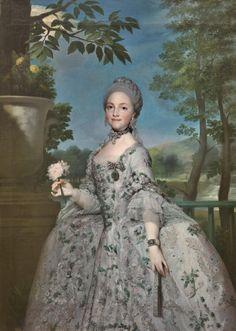 MENGS, María Luisa de Parma, princesa de Asturias, Hacia 1765, Museo del Prado. (1751-1819), casada con Carlos IV, madre de Fernando VII.