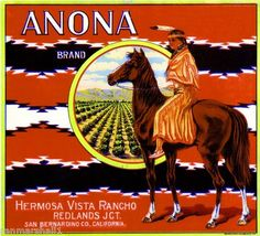 Anona Brand (Oranges) 1915 - Hermosa Vista Rancho, Redlands Jct., CA