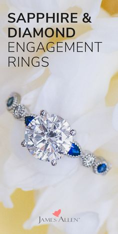 53764fdc558cf 38 Best Sapphire and Diamond Engagement Rings images in 2019