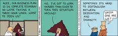 Dilbert Classics by Scott Adams for Sun 28 Mar 2021 #Dilbert #Comics Dilbert Comics, Scott Adams, Business Planning, Comic Strips, Cartoons, March, Family Guy, Sun, How To Plan