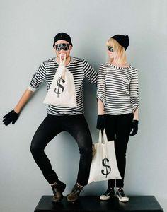 BurglarsWhat you'll need:- Dark pants- Stripped shirt- Gloves- Beanie Photo:Pinterest Photo: Pinterest