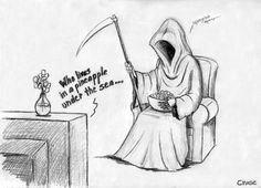 The Grim Reaper loves Spongebob Cartoon Jokes, Funny Cartoons, Funny Images, Best Funny Pictures, The Jersey Devil, Pineapple Under The Sea, Short Comics, Shinigami, The Grim