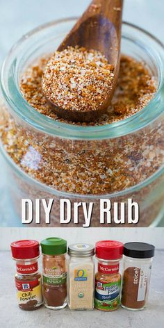 Rub Homemade Dry Rub - the BEST dry rub recipe you'll find online. Rub on chicken, ribs, steak, beef, pork and more for the most amazing BBQ flavors Rub For Pork Ribs, Pork Dry Rubs, Dry Rub For Steak, Dry Rub For Chicken, Meat Rubs, Best Rub For Ribs, Pork Chop Dry Rub, Pork Rib Rub Recipe, Bbq Rub Recipe