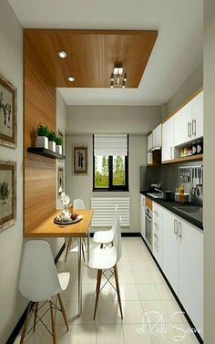 Cocina – comedor The post 59 Simple Small Kitchen Design Ideas 2019 appeared first on Best Pins for Yours - Kitchen Decoration Small Kitchen Set, Simple Kitchen Design, Small Kitchen Tables, Best Kitchen Designs, New Kitchen, Kitchen Decor, Kitchen Island, Kitchen Ideas, Awesome Kitchen