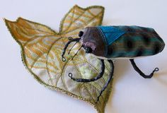 Soft Sculpture Jewel Beetle Fiber Insect Art Natural History Gift Nature Lover Gift Coleoptera Entomology Gift Luxury Woodland Gift