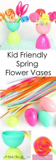 Craftaholics Anonymous® | Team up with piper cleaners for this fun craft idea with your kids! Make a collection of flower pots for your spring time fun!