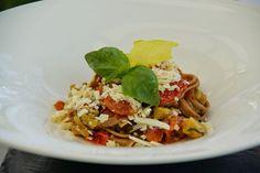 Die Pasta, typisch saisonal und köstlich.