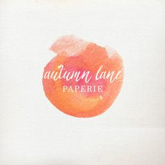 Premade Logo Design  Watercolor Logo  by AutumnLanePaperie on Etsy