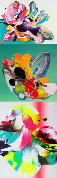 Neon paintings by Yago Hortal... SO GOOD                                                                                                                                                                                 More
