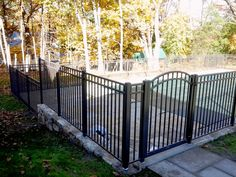 3-Rail Ascot Aluminum Pool Fencing and Arched Walk Gate