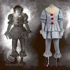 Stephen King's It 2017 Movie Clown Cosplay Costume(Include shoes) – CosplayClass