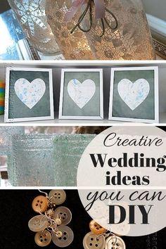 Creative Wedding Ideas You Can DIY: several fun and practical ideas for your wedding! (Photo credit: Amanda Formaro, Crafts by Amanda)