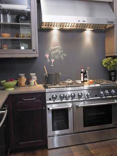 Unusual Materials: Chalkboard Paint - 30 Splashy Kitchen Backsplashes on HGTV