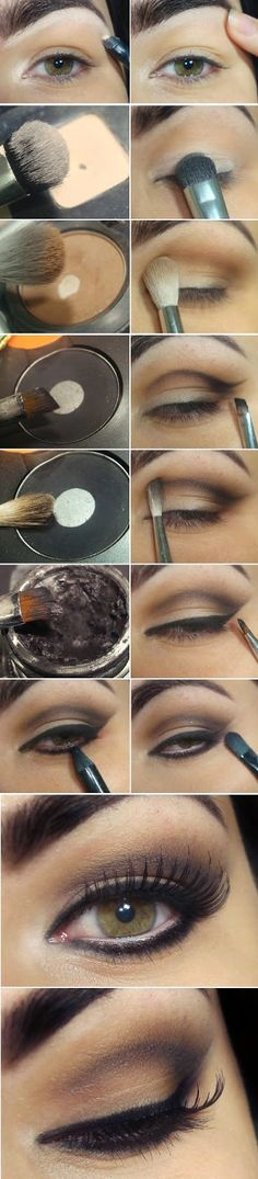 Inspiration and Marked Concave Lid Nude Makeup Tutorials Step by Step