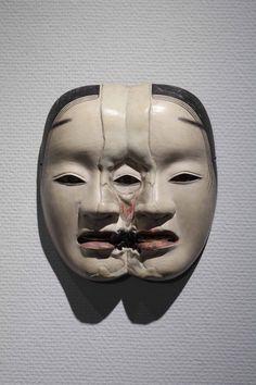 Motohiko Odani ) SP Extra: Malformed Noh-Mask Series Half Skeleton's Twins: Tosaka, Wood, natural mineral pigment, Japanese… Arte Tribal, Japanese Noh Mask, Kubo And The Two Strings, Art Premier, Psy Art, Neue Tattoos, Art Japonais, Arte Horror, Masks Art