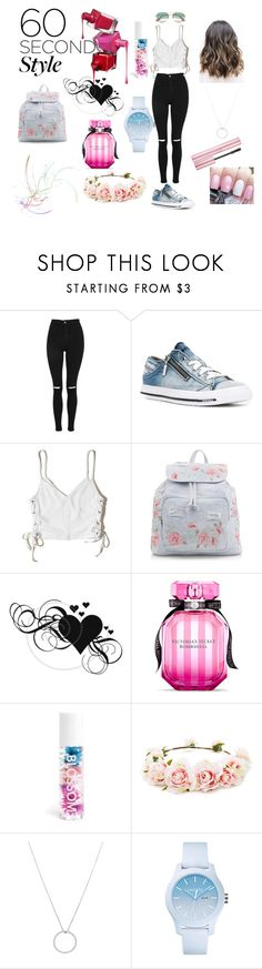 """""""Queen of the crowd"""" by lilmayxox ❤ liked on Polyvore featuring Topshop, Diesel, Hollister Co., New Look, Victoria's Secret, Blossom, Forever 21, Roberto Coin, Lacoste and Gucci"""