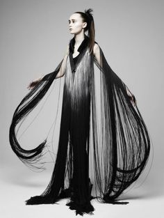 Fall/Winter 2012 collection from London-based Eleanor Amoroso - Creepy but I love the hair-texture