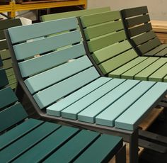 Public Space can be so manifold and diverse - why not add a little colour to make it even more exciting? Outdoor Chairs, Outdoor Furniture, Outdoor Decor, Street Furniture, Landscape Architecture, Exterior Design, Sun Lounger, Furniture Design, Public