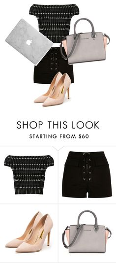 """""""School but not really"""" by omgantonia on Polyvore featuring Alexander McQueen, River Island, Rupert Sanderson, women's clothing, women, female, woman, misses and juniors"""