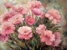 Impressionism Art | Impressionism. Pink peony. Impressionism oil paintings for sale. Elena ...